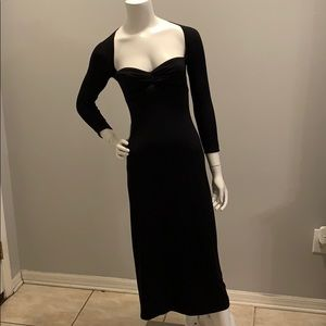 Laundry by Shelli Segal long sleeve black dress
